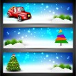 Merry Christmas website header or banner set.  EPS 10. - Stock Vector