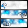 Merry Christmas website header or banner set. EPS 10. — Stock Vector