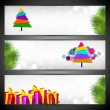Merry Christmas website header or banner set.  EPS 10. - Vettoriali Stock 