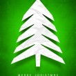 Christmas tree. Greeting card, gift card or invitation card for — Imagen vectorial