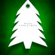 Christmas tree. Greeting card, gift card or invitation card for — Stock Vector #16950581