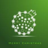 Christmas Card. EPS 10. — Stock Vector