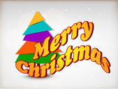 Tree.greeting tarjeta de navidad, tarjeta de regalo o tarjeta de la invitación para m — Vector de stock