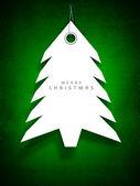 クリスマス ツリー。グリーティング カードやギフト カードの招待状 — ストックベクタ