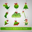 Merry Christmas stickers set. EPS 10. - Grafika wektorowa
