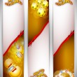 Merry Christmas website banner set. EPS 10. - Imagen vectorial