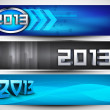 2013 Website header or banner. EPS 10. - Grafika wektorowa