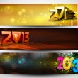 2013 Website header or banner. EPS 10. - Stockvektor