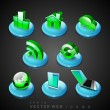 3D web 2.0 mail icons set. Can be used for websites, web applica — Stock Vector