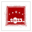 Rubber stamp for 2013 Happy New Year. EPS 10. — Stock Vector #17127185