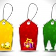 Merry Christmas tags set. EPS 10. — Imagen vectorial