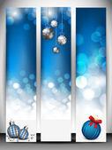 Merry Christmas website banner set. EPS 10. — Stock Vector