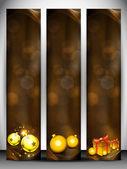 Frohe weihnachten-website-banner legen. eps 10. — Stockvektor