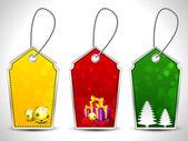 Merry christmas etiketler ayarlayın. eps 10. — Stok Vektör