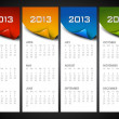 Stock Vector: 2013 year calender. EPS 10.