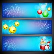 Merry Christmas website header or banner set. EPS 10. — Stock Vector #18078393
