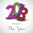 2013 Happy New Year greeting card. EPS 10. — Stock Vector