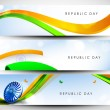 Website Headers or banners set for Republic Day. EPS 10. — Stock Vector #18079901