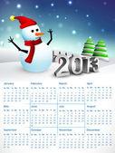Kalendarz 2013 roku. eps 10. — Wektor stockowy