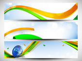 Website Headers or banners set for Republic Day. EPS 10. — Stock Vector