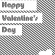 Royalty-Free Stock Vector Image: Valentine\'s Day love card, gift card or greeting card in grey co