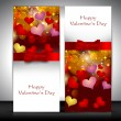 Valentine's Day greeting card with hearts and red ribbon. EPS 10 — Stock Vector #18779765