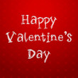 Happy Valentines Day text on red background. EPS 10 — Imagen vectorial