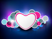 Valentines Day greeting card or background with blank white hear — Stock Vector