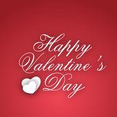 Glücklich liebe valentinstagskarte, geschenkkarte oder grußkarte in p — Stockvektor