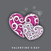 Cartão de amor dia dos namorados, cartão-presente ou cartão de felicitações com uma decoração — Vetor de Stock