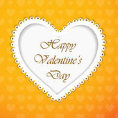 Happy Valentines Day greeting card, gift card or love card with — Stock Vector