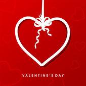 Vackra alla hjärtans dag gratulationskort eller presentkort med hängande — Stockvektor