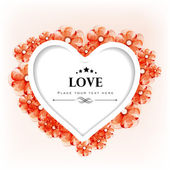 Valentines Day greeting card or gift card with floral decorative — ストックベクタ