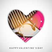 Colorful heart pin up, Valentines Day greeting card or gift card — Stock Vector