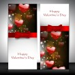 Royalty-Free Stock Vector Image: Valentine\'s Day greeting card with hearts and red ribbon. EPS 10