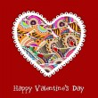 Happy Valentines Day greeting card, gift card or background. EPS — Imagen vectorial
