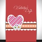 szczęśliwy Walentynki karty z pozdrowieniami, karty upominkowej lub tła. EPS — Wektor stockowy
