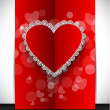 Stok Vektör: Happy Valentines Day greeting card, gift card or background. EPS