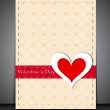 Happy Valentines Day greeting card, gift card or background. EPS — Vector de stock