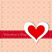 Happy Valentines Day greeting card, gift card or background. EPS — Vettoriale Stock