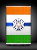 Flagi indii tło na rolki się stać. eps 10. — Wektor stockowy
