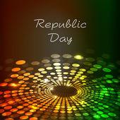 Beautiful Republic Day shiny background. EPS 10. — Stock Vector
