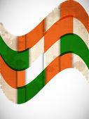 Flagi indii kolor kreatywnych fala tło. eps 10. — Wektor stockowy