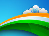 Indian flag color creative wave background. EPS 10. — Vettoriale Stock