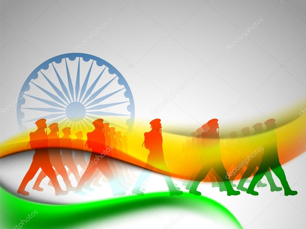 Colorful Indian Indian Flag Color Creative