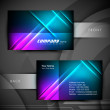 Abstract professional and designer business card template or vis — Stock Vector #18873665