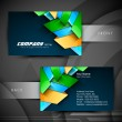 Abstract professional and designer business card template or vis — Stock Vector #18873631