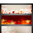 Love website header or banner set with small hearts. EPS 10. — Stock Vector #18874317