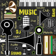 Royalty-Free Stock Vector: Retro Music background, can be used as flyer or banner for dance