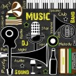 Royalty-Free Stock Immagine Vettoriale: Retro Music background, can be used as flyer or banner for dance